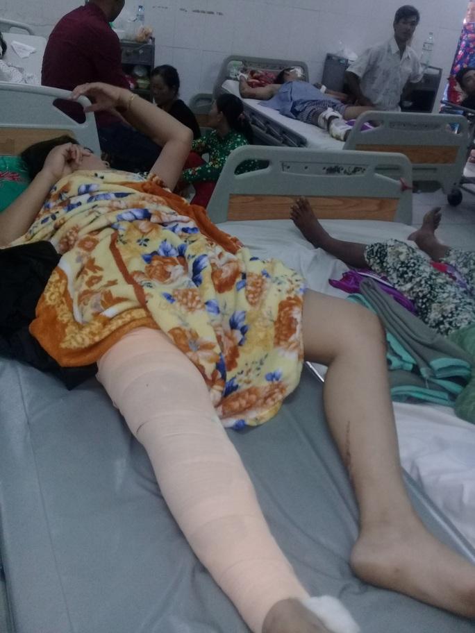 Bệnh nhân Nguyễn Thị Thụy G. bị gãy xương đùi phải