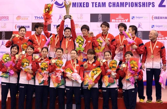 Đội tuyển cầu lông Nhật Bản xứng đáng giành ngôi vô địch đồng đội châu Á