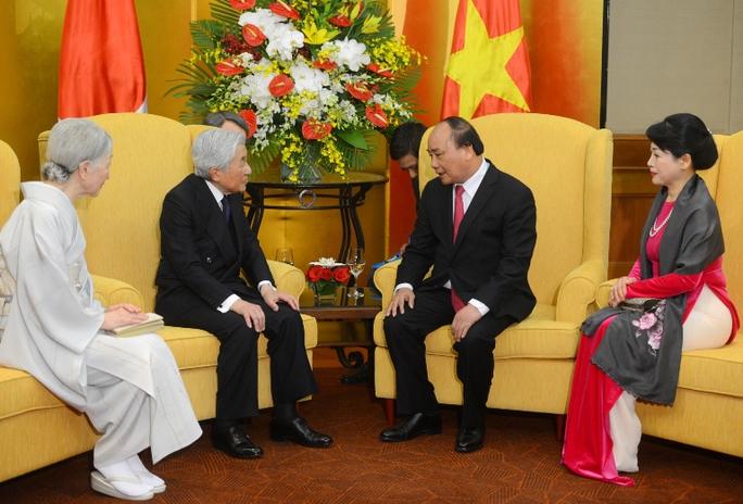 Thủ tướng và Phu nhân hội kiến Nhật Hoàng và Hoàng hậu - Ảnh: Nguyễn Anh Tuấn