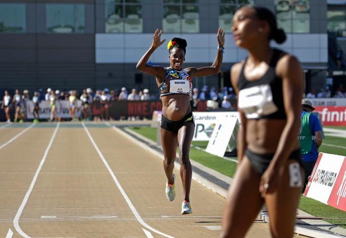 Bà bầu 5 tháng gây sốc với đường đua 800 m - Ảnh 3.