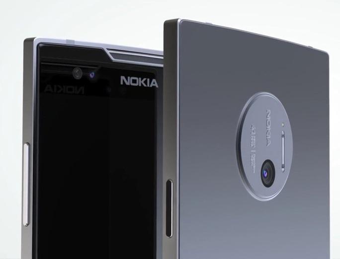 Nokia 9 của trang Concept Creator có khung vỏ bằng kim loại, thiết kế dạng phẳng ở cạnh và cả mặt sau.