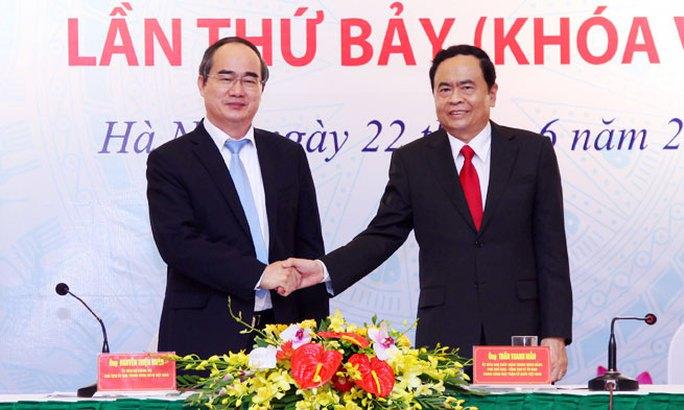 Ông Trần Thanh Mẫn làm Chủ tịch MTTQ Việt Nam thay ông Nguyễn Thiện Nhân - Ảnh 1.