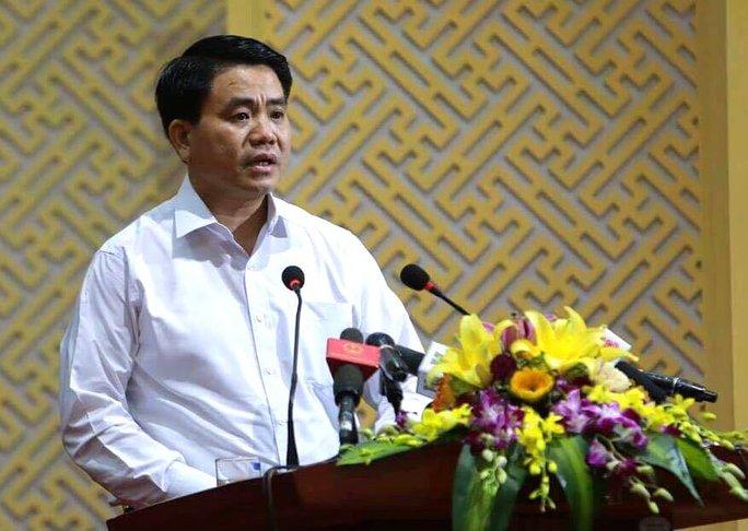 Chủ tịch Hà Nội Nguyễn Đức Chung phát biểu với người dân Đồng Tâm - Ảnh 1.