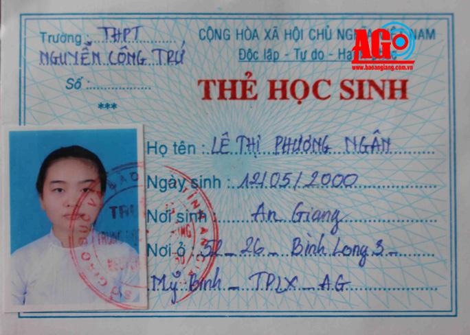Em Lê Thị Phương Ngân mất tích từ ngày 5-1-2017