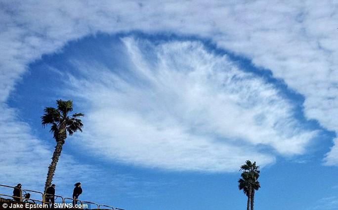 Các chuyên gia về mây không cho rằng đây là UFO. Ảnh: Daily Mail