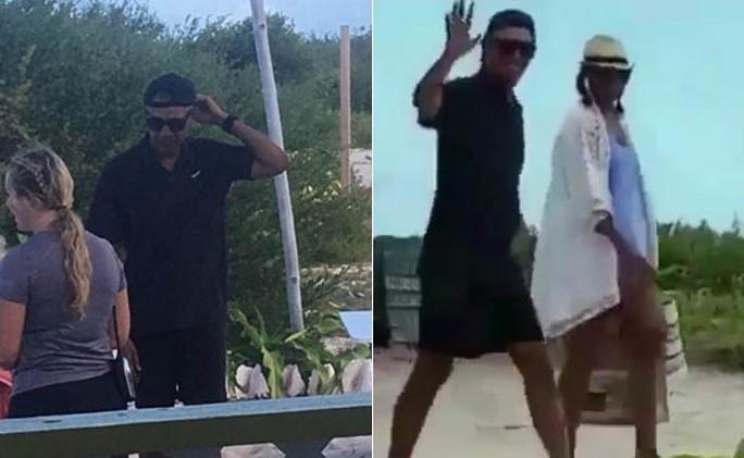 Hình ảnh cựu tổng thống Obama với chiếc mũ đội ngược trong kỳ nghỉ sau khi rời Nhà Trắng khiến cư dân mạng quan tâm.
