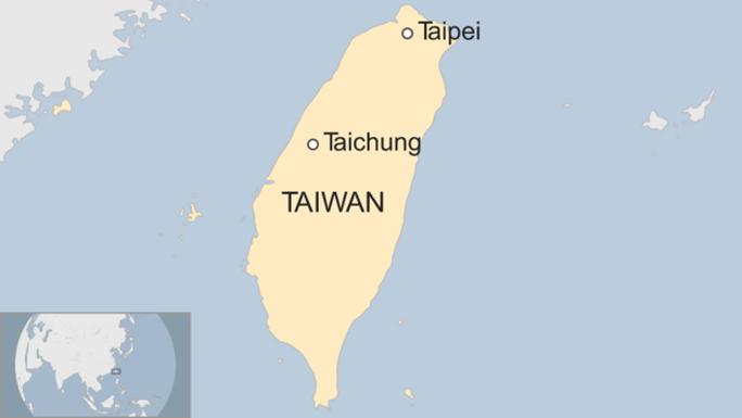 Tai nạn xảy ra khi xe buýt đi từ Đài Trung (Taichung) về Đài Bắc (Taipei). Nguồn: BBC