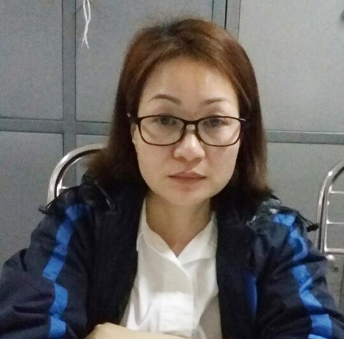 Phạm Kim Ngân tại Cơ quan Cảnh sát điều tra.