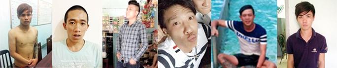 """Một số đàn em thân tín của """"ông trùm"""" vùng giáp ranh Nguyễn Văn Công đã bị công an bắt giữ."""