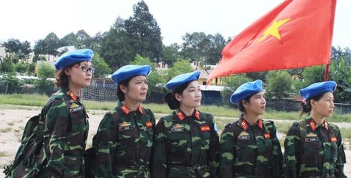 Các nữ quân nhân bệnh viện dã chiến cấp 2, Trung tâm Gìn giữ hòa bình Việt Nam - Ảnh: QĐND