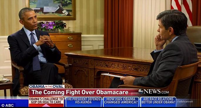 Tổng thống Mỹ sắp mãn nhiệm Obama trả lời phỏng vấn với đài ABC phát sóng hôm 8-1. Ảnh: ABC