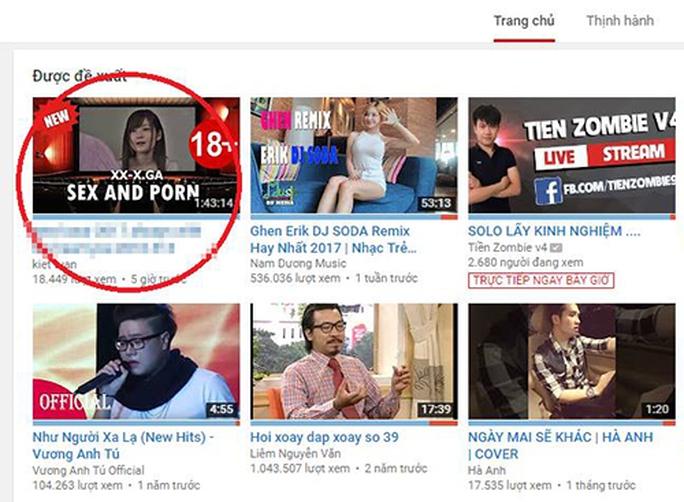 YouTube Việt Nam xuất hiện hàng loạt video 18+ - Ảnh 1.