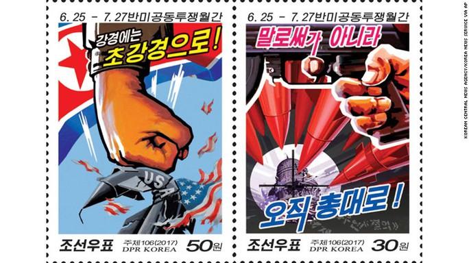 Những con tem lạ lùng của Triều Tiên - Ảnh 1.