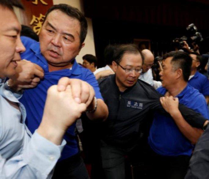 Choảng nhau bầm dập trong cuộc họp của nghị sĩ Đài Loan - Ảnh 3.