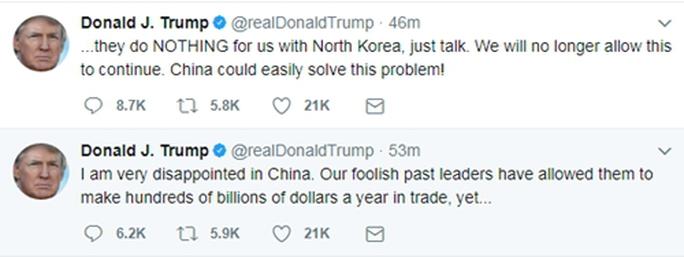Tổng thống Donald Trump nặng lời với Trung Quốc - Ảnh 1.