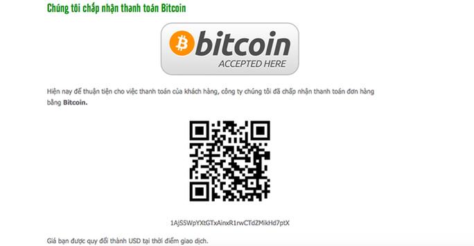 Ngang nhiên thanh toán bằng tiền ảo bitcoin - Ảnh 1.