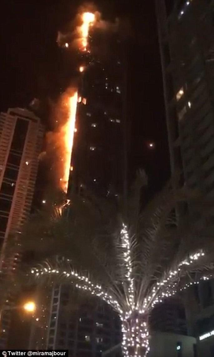 Cháy lớn nhấn chìm 40 tầng của tòa tháp Dubai trong biển lửa - Ảnh 1.