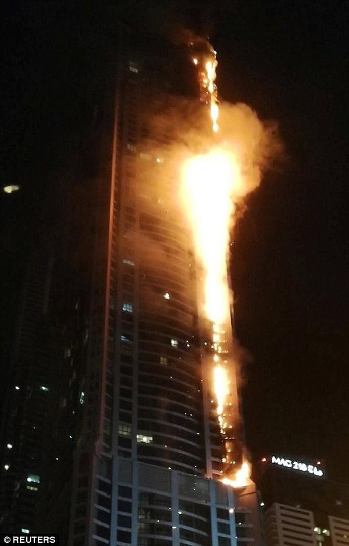 Cháy lớn nhấn chìm 40 tầng của tòa tháp Dubai trong biển lửa - Ảnh 2.