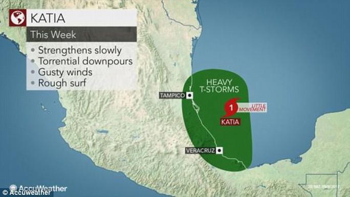 Ba cơn bão đồng loạt hoành hành ở Đại Tây Dương - Ảnh 2.