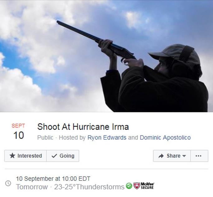 Hàng chục ngàn người đòi nổ súng đuổi bão Irma - Ảnh 1.