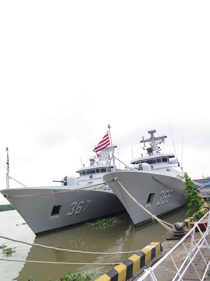 TP HCM đón cùng lúc 2 tàu quân sự Indonesia - Ảnh 1.