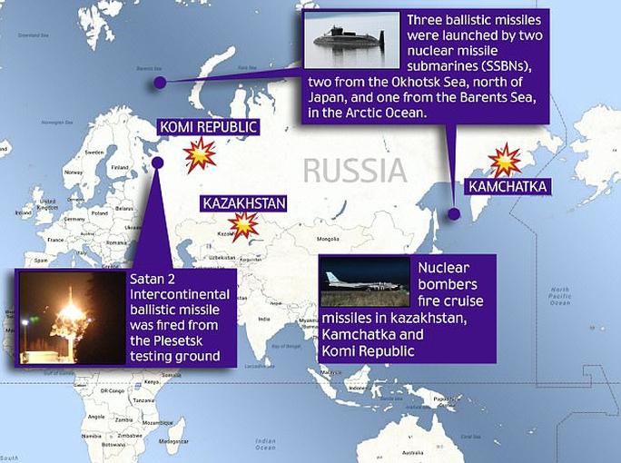 Nga thử tên lửa Satan 2 có khả năng mang 12 đầu đạn hạt nhân - Ảnh 3.
