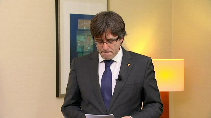 Cựu thủ hiến Catalonia Carles Puigdemont. Ảnh: Reuters