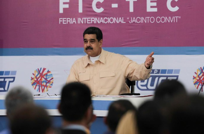 Tổng thống Maduro phát biểu hôm 3-12. Ảnh: Reuters