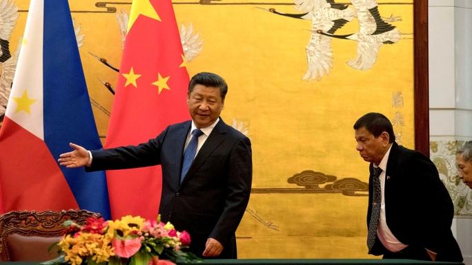 Căng thẳng giữa Bắc Kinh và Manila vì vùng biển tranh chấp giảm đi đáng kể kể từ khi ông Duterte lên nắm quyền vào tháng 6. Ảnh: REUTERS