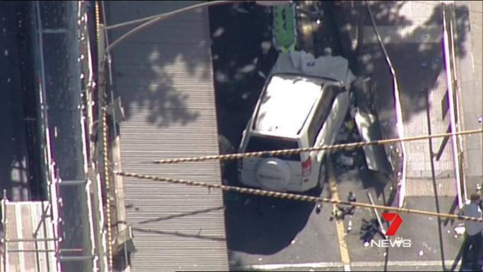 Hình ảnh chiếc xe gây tai nạn. Ảnh: 7 News