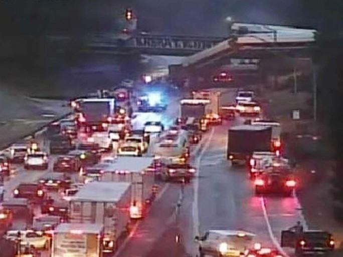 Hiện trường vụ tai nạn. Ảnh: WSDOT Tacoma Traffic
