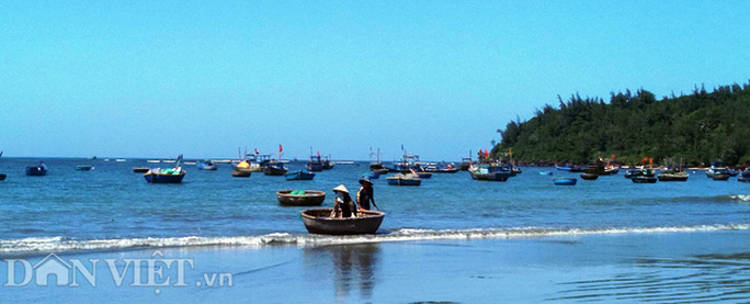 Đội tàu, thuyền thúng của ngư dân vùng biển Núi Thành vào mùa khai thác tôm hùm nhí