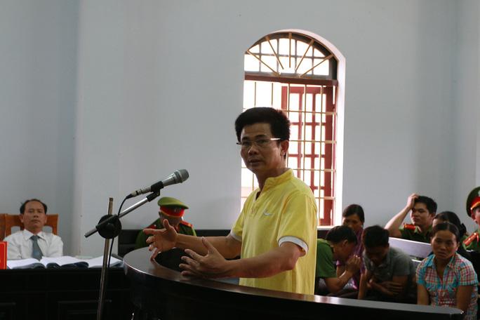 Bị cáo Trần Minh Lợi tại phiên tòa