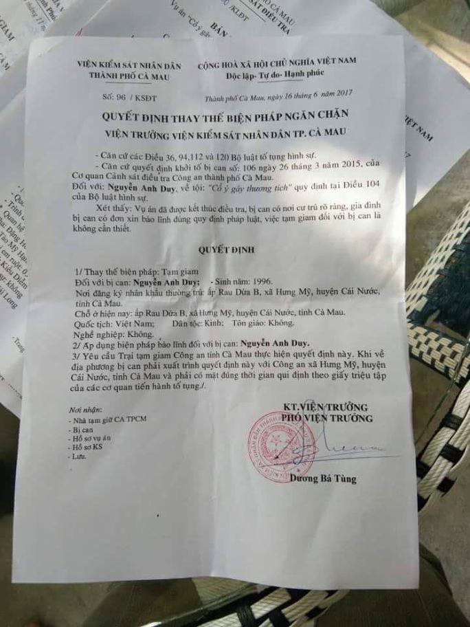 5 bị cáo kêu oan ở Cà Mau được tại ngoại - Ảnh 1.