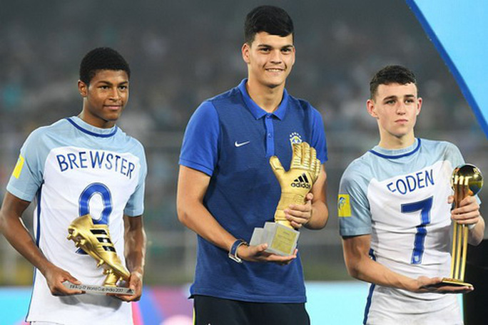 res- brewster - golden boot phil foden - player of the tournament and gabriel brazao -golden glove