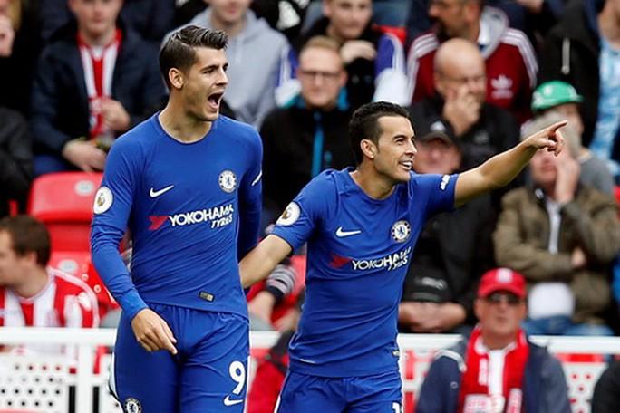 Morata lập hat-trick, Chelsea hạ đẹp Stoke  - Ảnh 3.