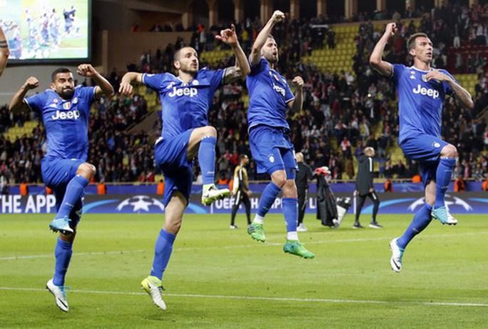 Hình ảnh mừng chiến thắng quen thuộc của Juventus