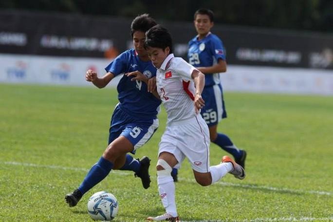 Ghi 3 bàn những phút cuối, nữ Việt Nam thắng đậm Philippines - Ảnh 7.