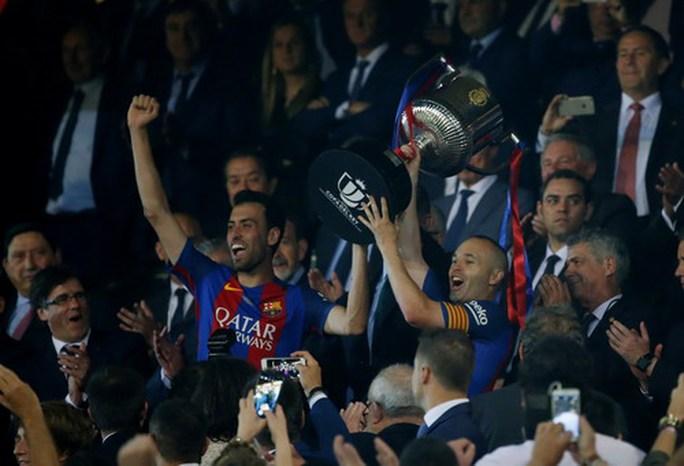 Messi lập đại công, Barcelona vô địch Cúp Nhà vua - Ảnh 8.