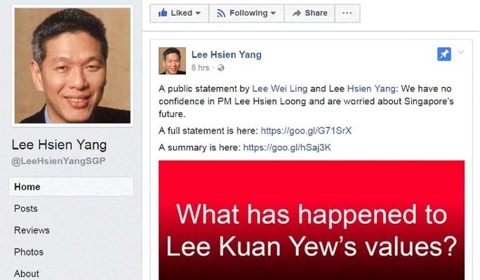 Anh em nhà Thủ tướng Lý Hiển Long leo thang mâu thuẫn - Ảnh 2.
