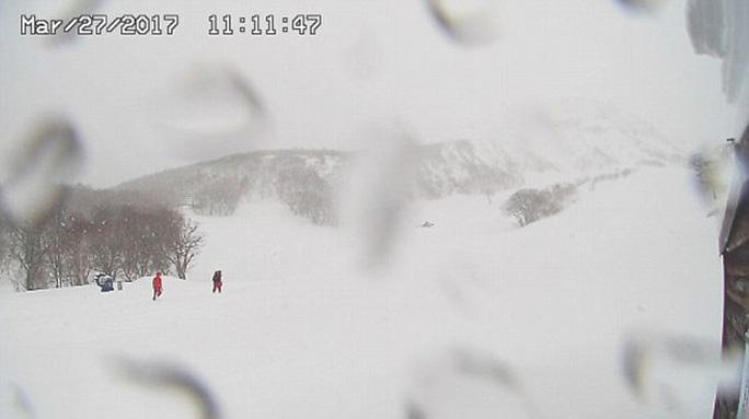 Một hình ảnh chụp một khu vực gần nơi xảy ra lở tuyết hôm 27-3. Ảnh: Daily Mail