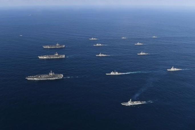 3 tàu sân bay Mỹ tập trận, Triều Tiên cảnh báo chiến tranh hạt nhân - Ảnh 1.