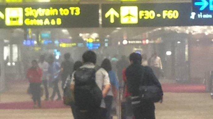 Sân bay Singapore hỗn loạn vì cháy - Ảnh 1.