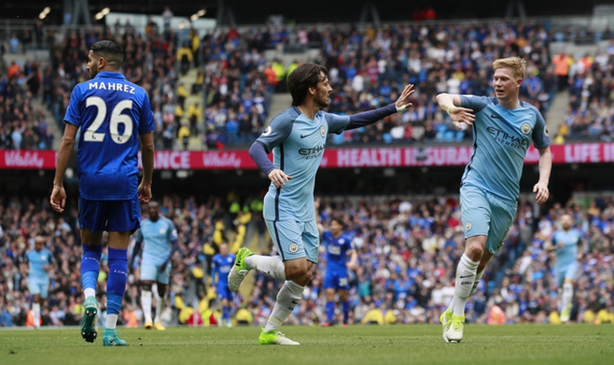 Hạ Leicester, Man City chiếm vị trí thứ ba của Liverpool - Ảnh 1.