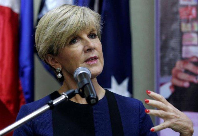 Ngoại trưởng Julie Bishop cho biết sẽ tiếp tục làm việc để hiệp ước dẫn độ với Trung Quốc được thông qua. Ảnh: Reuters
