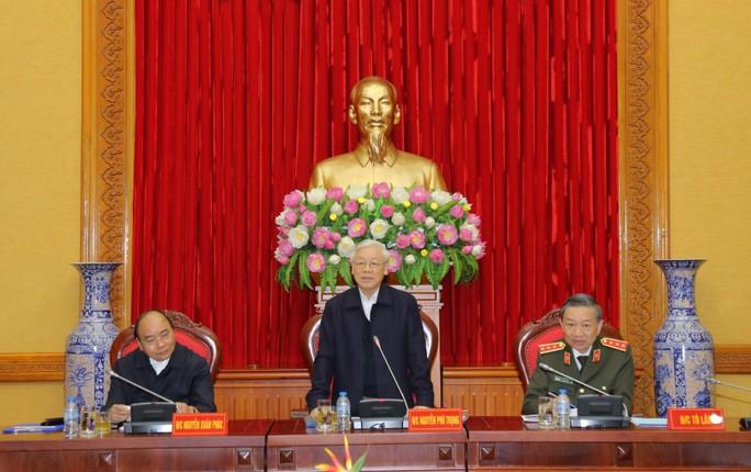 Tổng Bí thư chỉ đạo phiên họp Thường vụ Đảng ủy Công an Trung ương - Ảnh 1.