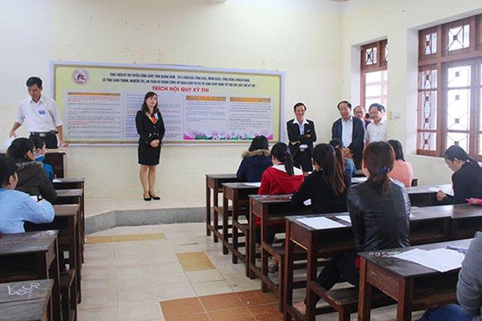 2.331 người thi, Quảng Nam chỉ chọn được 193 người tài - Ảnh 1.