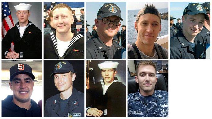 Tìm thấy thi thể 10 thủy thủ trong vụ va chạm tàu chiến Mỹ - Ảnh 1.