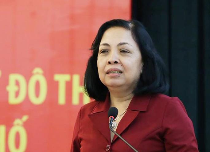 Bà Trương Thị Minh Tín, Chủ tịch UBND phường Bình Trị Đông B, quận Bình Tân.