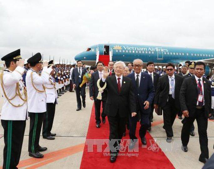 Trang trọng lễ đón Tổng Bí thư tại Hoàng cung Campuchia - Ảnh 5.